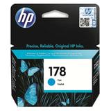 Картридж струйный HP (CB318HE) Photosmart C6383/D5463 №178, голубой, оригинальный, ресурс 300 стр.