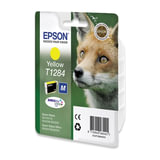 Картридж струйный EPSON (C13T12844010/11) Stylus S22/SX125/SX420W/SX425W/BX305F/FW, желтый, ориг.