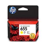 Картридж струйный HP (CZ112AE) Deskjet Ink Advantage 3525/5525/4515/4525 №655, желтый, оригинальный