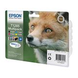 Картридж струйный EPSON (C13T12854010/12) Stylus S22/SX125/SX420W/ SX425/BX305FW, комплект, оригинальный, 4 цвета, C13T12854012