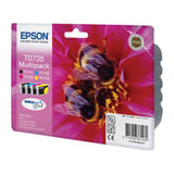 Картридж струйный EPSON (C13T10554A10) Stylus C79/CX3900/CX4900/CX5900/8300, комплект, ориг., 4 цв.