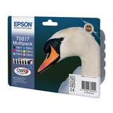 Картридж струйный EPSON (C13T11174A10) Stylus TX650/T50/R270/R390/RX590, комплект, оригин., 6 цв.