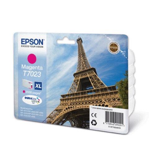Картридж струйный EPSON (C13T70234010) WorkForce Pro WP4015/4025/4515/4525/4545, пурпурный, оригин.