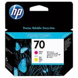 Головка печатающая для плоттера HP (C9406A) DesignJet Z2100/Z3100, №70, пурпурная и желтая, оригинальная