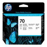 Головка печатающая для плоттера HP (C9407A) DesignJet Z2100/Z3100, №70, черная и светло-серая, оригинальная