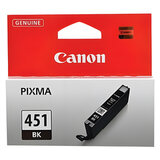 Картридж струйный CANON (CLI-451Bk) Pixma iP7240 и другие, черный, оригинальный, 6523B001