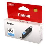 Картридж струйный CANON (CLI-451C) Pixma iP7240 и другие, голубой, оригинальный, 6524В001