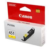 Картридж струйный CANON (CLI-451Y) Pixma iP7240 и другие, желтый, оригинальный, 6526B001