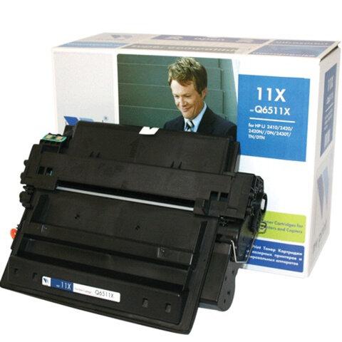 Картридж лазерный HP (Q6511X) LaserJet 2410/2420/2430, ресурс 12000 страниц, NV PRINT, СОВМЕСТИМЫЙ