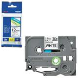 Картридж для принтеров этикеток BROTHER TZE231, 12 мм х 8 м, чёрный шрифт, белый фон, ламинированная, TZE-231