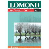 Фотобумага для струйной печати, А4, 210 г/м<sup>2</sup>, 50 листов, двухсторонняя глянцевая/матовая, LOMOND, 0102021
