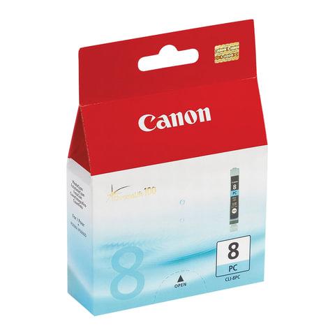 Картридж струйный CANON (CLI-8PC) iP6600D/6700/MP970/ Pixma 9000, голубой, оригинальный, 450 стр., 0624B001