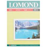Фотобумага для струйной печати, А4, 130 г/м<sup>2</sup>, 50 листов, односторонняя глянцевая, LOMOND, 0102017
