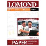 Фотобумага для струйной печати, A4, 90 г/м<sup>2</sup>, 500 листов, односторонняя матовая, LOMOND, 0102131