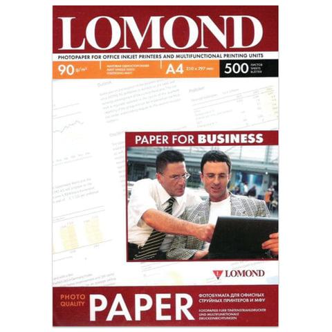Фотобумага LOMOND для струйной печати, A4, 90 г/м<sup>2</sup>, 500 л., односторонняя, матовая, 0102131