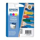 Картридж струйный EPSON (C13T05204010) Stylus Color 400/600/740/1520/Scan2000/2500 и другие, цветной, оригинальный