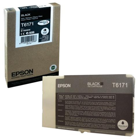 Картридж струйный EPSON (C13T617100) B-500DN/510DN, черный, увеличенной емкости, оригинальный