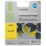 Картридж струйный HP (CB320HE) Photosmart C6383/D5463, №178, желтый, 6 мл, CACTUS совместимый, CS-CB320(N)
