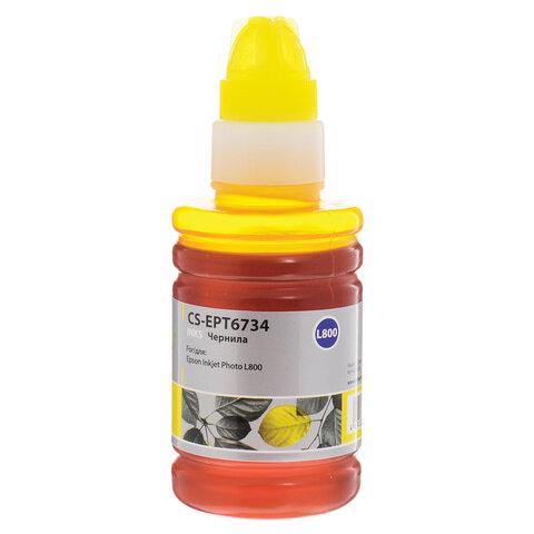 Чернила CACTUS (CS-EPT6734) для СНПЧ EPSON L800/L810/L850/L1800, желтые, 0,1 л