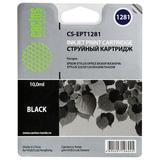 Картридж струйный EPSON (C13T12814011) Stylus S22/SX125/SX420W/BX305F и другие, черный, CACTUS совместимый, CS-EPT1281