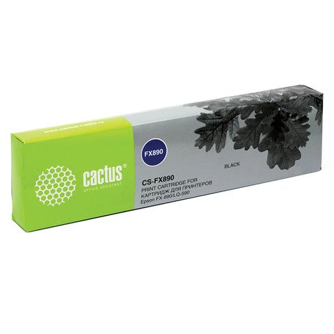 Картридж матричный CACTUS (CS-FX890) для EPSON LQ-590, черный, ресурс 5 млн. знаков
