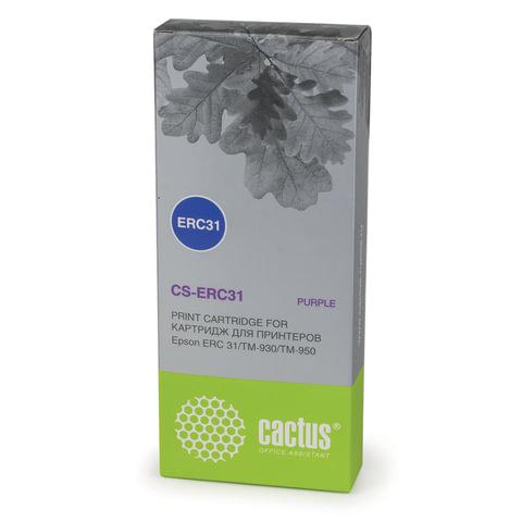 Картридж матричный EPSON (C43S015369) TM-930/950, пурпурный, CACTUS совместимый, CS-ERC31