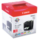 Картридж струйный CANON (PGI-2400XL BK/C/M/Y) iB4040/MB5040/MB5340, КОМПЛЕКТ, оригинальный, 4 цвета, 9257B004