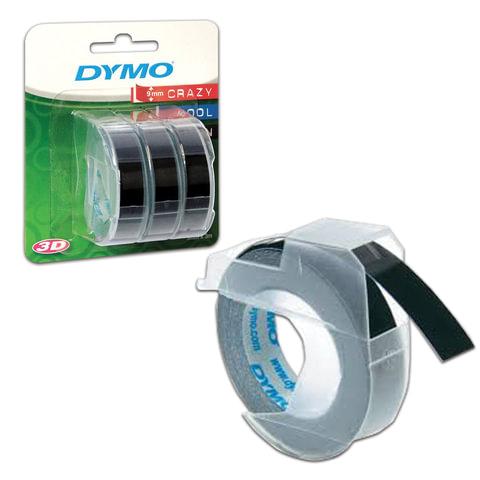 Картридж для принтеров этикеток DYMO Omega, 9 мм х 3 м, белый шрифт, черный фон, комплект 3 шт., S0847730