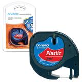 Картридж для принтеров этикеток DYMO LetraTag, 12 мм х 4 м, лента пластиковая, красная, S0721630