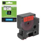 Картридж для принтеров этикеток DYMO D1, 19 мм х 7 м, лента пластик, чёрный шрифт, красный фон, S0720870