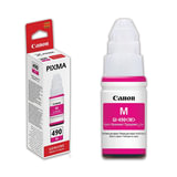 Чернила CANON (GI-490M) для СНПЧ Pixma G1400\G2400\G3400, пурпурные, ресурс 7000 стр., оригинальные, 0665C001