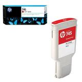 Картридж струйный для плоттера HP (F9K06A) Designjet Z2600/Z5600, №745, красный, 300 мл, оригинальный