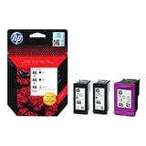 Картридж струйный HP (F6T40AE) Deskjet Ink Advantage 2020hc/2520hc, №46, комплект, 2 черных и 1 цветной, оригинальный