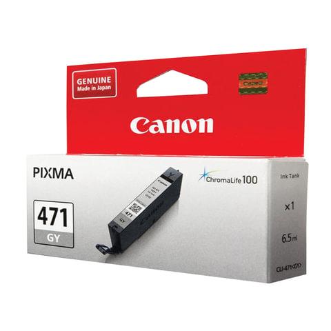 Картридж струйный CANON (CLI-471GY) PIXMA MG5740/MG6840/MG7740, серый, оригинальный, ресурс 780 стр., 0404C001