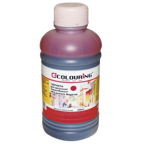 Чернила CANON / EPSON / HP / LEXMARK универсальные, пурпурный, 0,25 л, водные, COLOURING, СОВМЕСТИМЫЕ, 5180000091