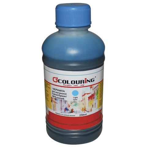 Чернила CANON / EPSON / HP / LEXMARK универсальные, светло-голубой, 0,25 л, водные, COLOURING, СОВМЕСТИМЫЕ, 5180000087