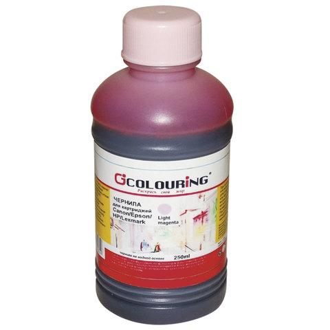 Чернила COLOURING для CANON /EPSON /HP /LEXMARK универсальные, светло-пурпурные, 0,25 л, водные, 5180000089