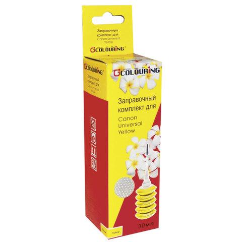 Заправочный комплект CANON универсальный, желтый, 0,03 л, водный, COLOURING, СОВМЕСТИМЫЙ, 5180000008