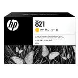 Картридж струйный HP (G0Y88A) Latex 110 Printer №821, цвет желтый, оригинальный 400 мл.