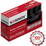 Картридж лазерный SONNEN (SH-CF280X) для HP LaserJet Pro M401/M425, ВЫСШЕЕ КАЧЕСТВО, ресурс 6500 стр., 362438