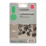 Картридж струйный CANON (CLI-451GY) iP7240/MG5440/MG6340, серый, ресурс 780 стр., CACTUS совместимый, CS-CLI451GY
