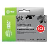 Картридж струйный CACTUS (CS-PFI102MBK) для CANON iPF500/510/F600/605/650/700, матовый черный, 130 мл