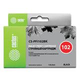 Картридж струйный CACTUS (CS-PFI102BK) для CANON iPF500/510/F600/605/650/700, черный, 130 мл
