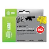 Картридж струйный CACTUS (CS-PFI102Y) для CANON iPF500/510/F600/605/650/700, желтый
