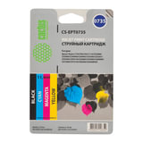 Картридж струйный CACTUS (CS-EPT0735) для EPSON Stylus С79, комплект 4 цвета