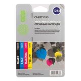 Картридж струйный CACTUS (CS-EPT1285) для EPSON Stylus SX1, комплект 4 цвета