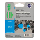 Картридж струйный EPSON (EPT1712) Expression Home XP-33/103/203/207/303, голубой, CACTUS совместимый, CS-EPT1712