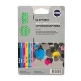 Картридж струйный CACTUS (CS-EPT0807) для EPSON Stylus Photo P50/PX650/660/700, комплект 6 цветов