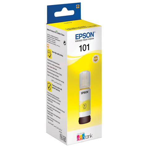 Чернила EPSON (T03V44), для СНПЧ, L4150/ L4160/ L6160/ L6170/ L6190, желтые, 70 мл, ОРИГИНАЛЬНЫЕ, C13T03V44A