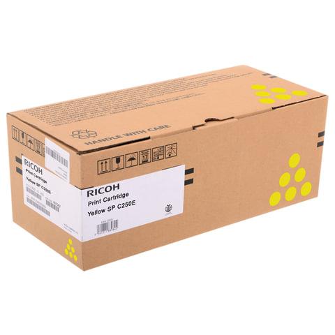 Тонер-картридж лазерный RICOH (SP C250E) SPC250/C260/C261, желтый, оригинальный, ресурс 1600 страниц, 407546